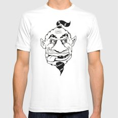 Shafted! Genie Mens Fitted Tee 2X-LARGE White