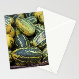 Asia Melon in basket on Market #food Stationery Cards