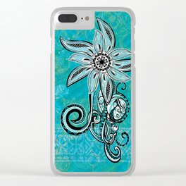 Trbal Floral Theads Clear iPhone Case