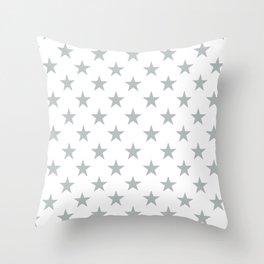 STARS DESIGN (SILVER-WHITE) Throw Pillow