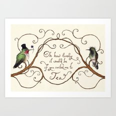 Oh How Lovely it Would Be Art Print