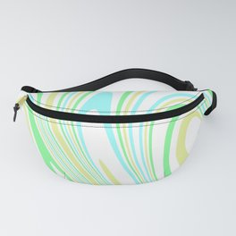 Blue, Yellow, and Green Waves 2 Fanny Pack