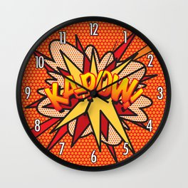 KA-POW Comic Book Flash Pop Art Cool Graphic Wall Clock