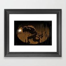 oil monster Framed Art Print