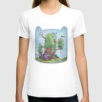 finn and jake T-shirts featuring Ode to Finn and Jake by Taylor Rose