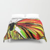 butterfly Duvet Covers featuring Butterfly  by Saundra Myles