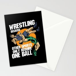 Wrestling Because Other Sports Only Require One Ball Stationery Cards