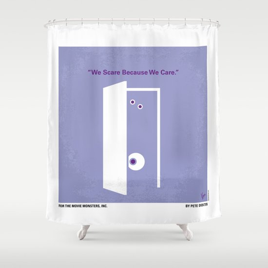 No161 My Monster Inc minimal movie poster Shower Curtain