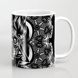Sphynx floral bw Coffee Mug
