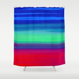 Rocket Blue Shower Curtain