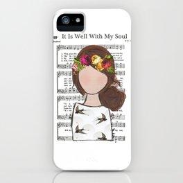 It Is Well - Brunette Side Bun iPhone Case