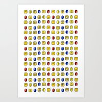 Coins, Boxes and Power ups, Oh my! Art Print