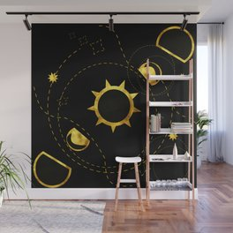 Solar Eclipse black Wall Mural