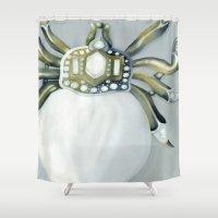 spider Shower Curtains featuring Spider by Elizabeth A