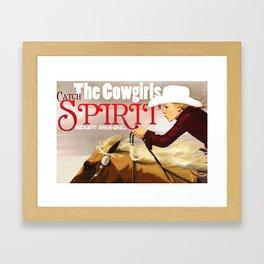 Reiner Cowgirl Framed Art Print