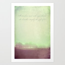 Breathe Deeply Art Print