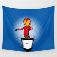 groot Wall Tapestries featuring Iron Groot by Io vorrò