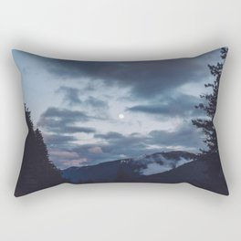 quietly, moon Rectangular Pillow