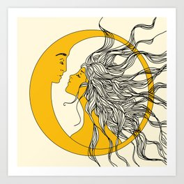 Sun and Moon Kunstdrucke