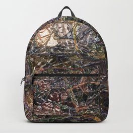 Abstract material shinny surface texture pattern digital illustration concept design graphic style b Backpack