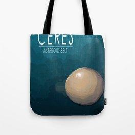 Ceres, Asteroid Belt Tote Bag