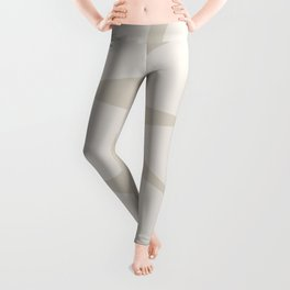 Riverbed Stones Abstract Minimalist Pattern Pale and Putty Leggings