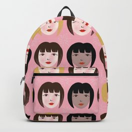 Gamine Faces Backpack