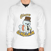 squirtle Hoodies featuring Classy Squirtle by tshirtsz