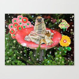 Saturday in the Forest with Cleve & Steve Canvas Print