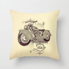 1936 indian Throw Pillow