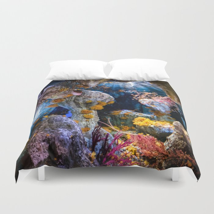Enchanted Caves Duvet Cover