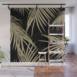 Gold Palm Leaves Dream #2 #tropical #decor #art #society6 Wall Mural