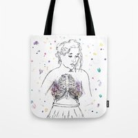 lungs Tote Bags featuring Lungs by Sarah Hartnell