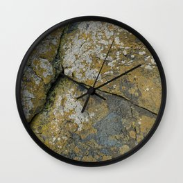Ancient Rocks with Lichen Texture Wall Clock