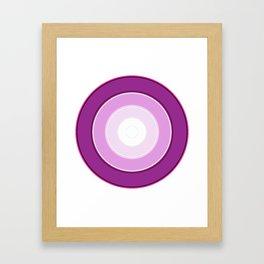 purple to white Framed Art Print