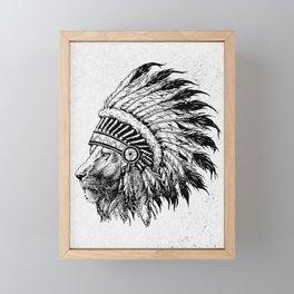 Lion Tribal Framed Mini Art Print