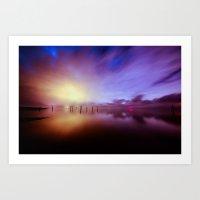 Reflecting Colors Art Print