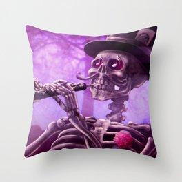 """Move your body!"" - The musician skeleton Throw Pillow"