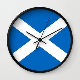 Scottish flag Saltire Wall Clock