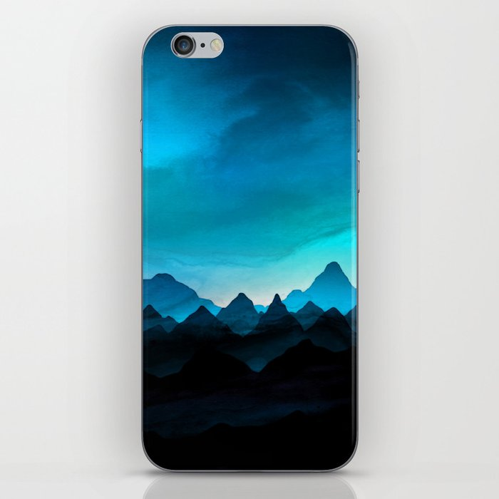 Night Storm In The Mountains iPhone Skin