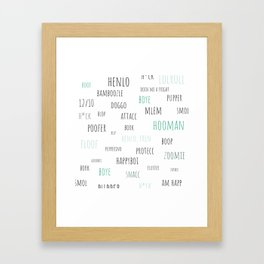 Doggo Speak Framed Art Print