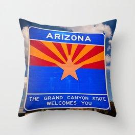 Arizona Star Throw Pillow