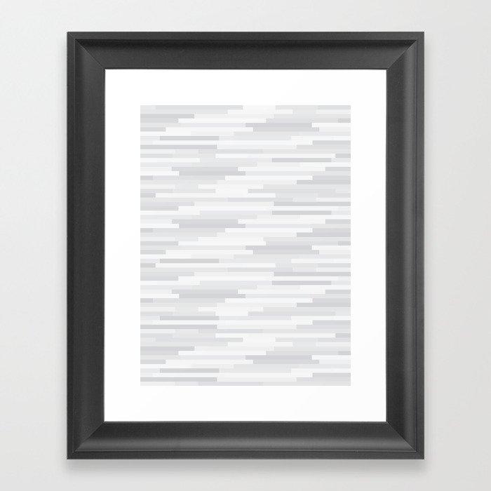 White Estival Mirage Framed Art Print