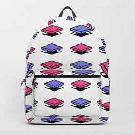 Float Pieces Purple and Pink Backpack