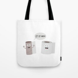 Toilet roll tissue cartoon Tote Bag