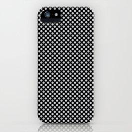 Black and Glacier Gray Polka Dots iPhone Case