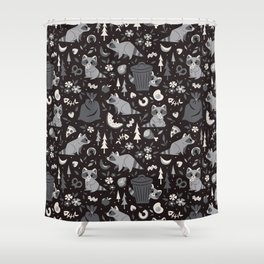 Trashy Raccoons Shower Curtain