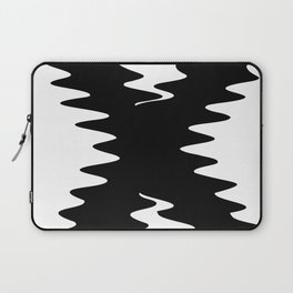 Black Wavy Squiggly X Laptop Sleeve