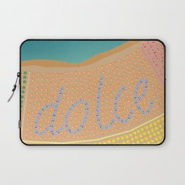 Sweet Italy Beach Umbrellas - Aerial Italian Laptop Sleeve