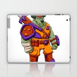 Bull warrior cartoon illustration Laptop & iPad Skin